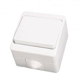 Διακόπτης μονός λευκός mini εξωτερικός Candela