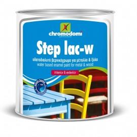 Step Lac Βερνικόχρωμα Λευκό σατινέ Νερού 750ml Χρωμοδομή