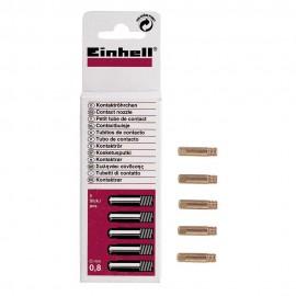 Σωληνάκια επαφής 0,8 mm σετ 5 τμχ. για όλες τις ηλεκτροσυγκολλήσεις ARGON Einhell 1576210