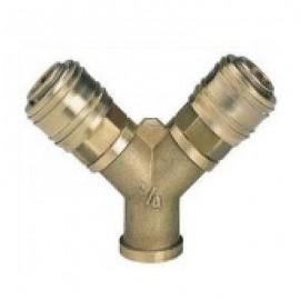 """Διανομέας πίεσης R 3/8"""" αέρος με 2 ταχυσυνδέσμους, εσωτερικό σπείρωμα Einhell 4139680"""