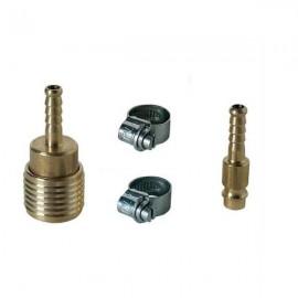 Σετ 2 συνδέσμων λάστιχου αέρος NW 7mm & 2 σφιγκτήρων Φ8 - Φ12 Einhell 4139500