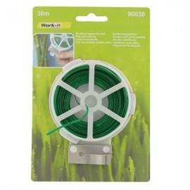 Σύρμα πλαστικοποιημένο φυτών πράσινο 30μέτρα WORK IT 90030