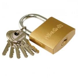 Λουκέτο Νο20 ορειχάλκινο με 6 κλειδιά Work it 78022