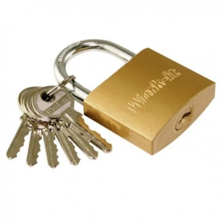 Λουκέτο Νο 20 ορειχάλκινο με 6 κλειδιά Work it 78022