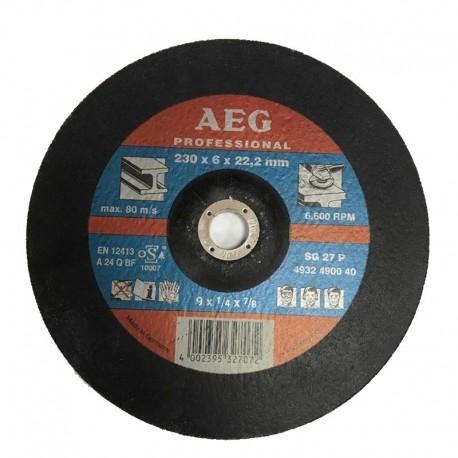 Δίσκος λείανσης μετάλλου 230x6x22.2mm SG 27 P AEG