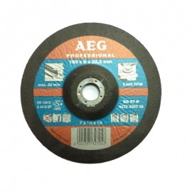 Δίσκος λείανσης μετάλλου 180x6x22.2mm SG 27 P AEG