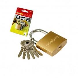 Λουκέτο Νο 38 ορειχάλκινο με 6 κλειδιά WORK IT 78042