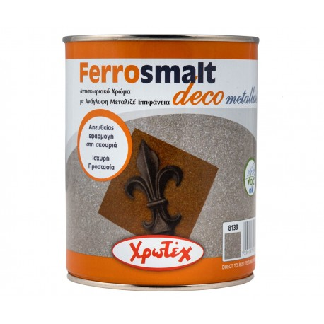 FERROSMALT DECO Metallise 8133 Γκρι Ασημί 750ml ΧΡΩΤΕΧ