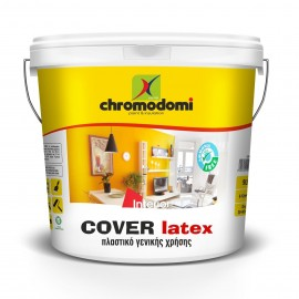 Cover Latex λευκό 750ml Πλαστικό χρώμα υψηλής ποιότητας Χρωμοδομή