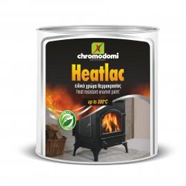 HEATLAC Μαύρο χρώμα υψηλής θερμοκρασίας 300°C Χρωμοδομή