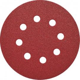 Δίσκος λείανσης Φ125 Velcro με 8 τρύπες Smirdex 330