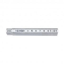 Μέτρο 1 μέτρου σπαστό πλαστικό Λευκό