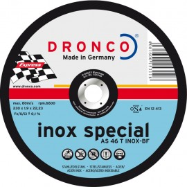 Δίσκος κοπής Inox 230x1.9x22.23mm Inox Special AS 46 T INOX BF DRONCO