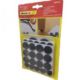 Αυτοκόλλητα πλαστικά τσοχάκια WORK-IT 59843