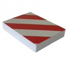 Προστατευτικό αφρώδες αυτοκόλλητο τοίχων με ανακλαστικές λωρίδες PARK-FWP2418RW