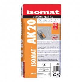 Κόλλα πλακιδίων ΑΚ 20 Λευκή ISOMAT 15kg