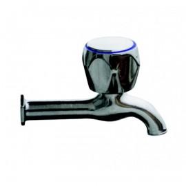 """Βρύση νερού χρωμέ 1/2"""" σφαιρική 12cm ελαφρού τύπου REMER"""
