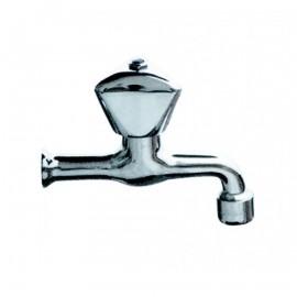 """Βρύση νερού χρωμέ 1/2"""" σφαιρική 17cm βαρέως τύπου REMER"""