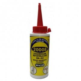 Κόλλα ξύλου κρυσταλιζέ μπιμπερό 200gr D2 20008 MENTOR