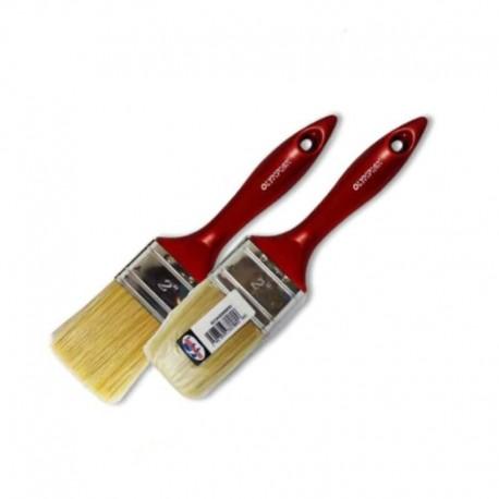 Πινέλα κόκκινα διπλά με λευκή τρίχα Olympian