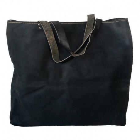 Τσάντα οικοδομής δερμάτινη μαύρη