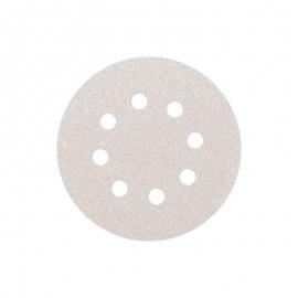 Δίσκος λείανσης λευκός Φ125 8 τρύπες Velcro Smirdex 510