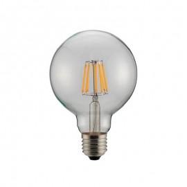 Λάμπα LED Filament γλόμπος G95 E27 8w ντιμαριζόμενη γυάλινη Eurolamp