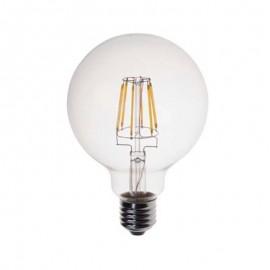 Λάμπα LED Filament γλόμπος G125 E27 8w ντιμαριζόμενη γυάλινη Eurolamp