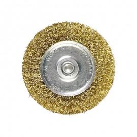 Συρματόβουρτσα στρογγυλή με αξονάκι 6mm Mtx