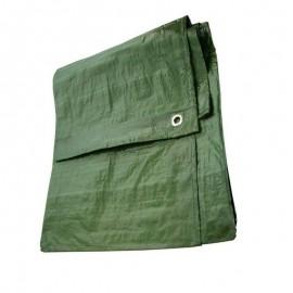 Μουσαμάς πράσινος με κρίκους 5x10 μέτρα 80gr OEM