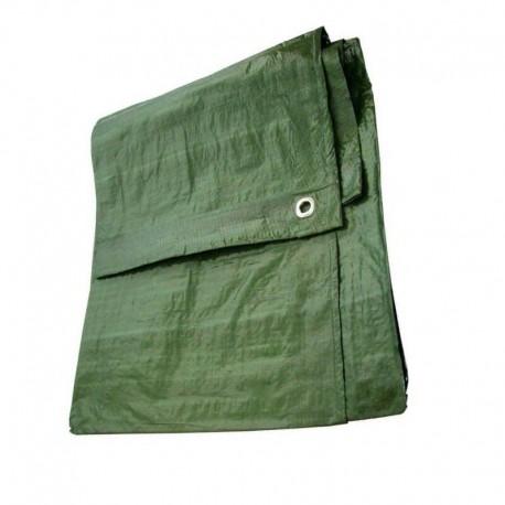 Μουσαμάς πράσινος με κρίκους 5x10 μέτρα 80gr
