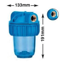 """Συσκευή φίλτρου νερού MEDIUM PLUS 3P 5"""" με παροχή 3/4"""" Atlas Filtri 13002"""