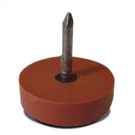 Λάστιχο με καρφί Φ25Χ6mm Καφέ OEM