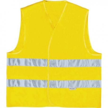Γιλέκο εργασίας Φωσφοριζέ Κίτρινο με ανακλαστήρες 3M SCOTCHLITE