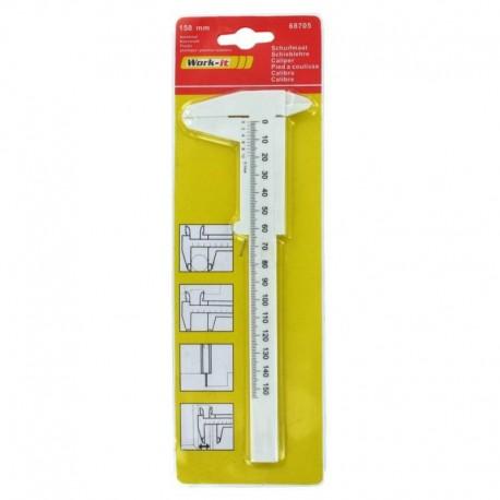 Παχύμετρο πλαστικό 150mm WORK-IT 68705