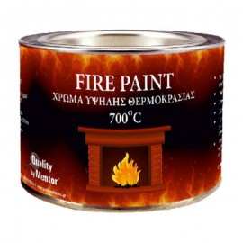 Χρώμα υψηλής θερμοκρασίας μαύρο 700°C 150ml MENTOR