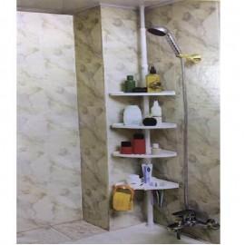 Ραφιέρα μπάνιου λευκή πλαστική 120cm έως 250cm ύψος Sidirela