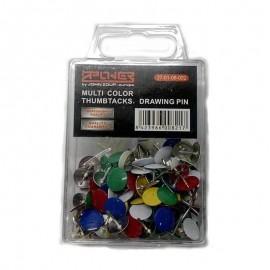 Πινέζες πολύχρωμες 100 τεμ ZPOWER 27-01-08-002
