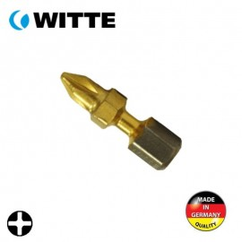 "Μύτη PH1 1/4"" 25mm TIN bitflex WITTE 4927020"