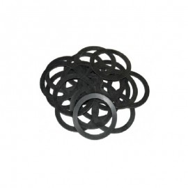Φλάντζες υδραυλικές λαστιχένιες πλακέ μαύρες σετ 10τεμ. OEM