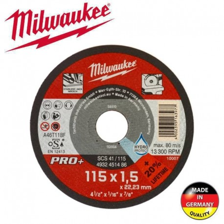 Δίσκος κοπής INOX PRO+ 115x1.5x22.2mm SCS 41/115 Milwaukee 4932451486