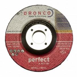 Δίσκος λείανσης μετάλλου 115x6x22.23mm Perfect A 30 T-BF DRONCO