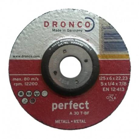 Δίσκος λείανσης μετάλλου 125x6x22.23mm Perfect A 30 T-BF DRONCO