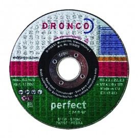 Δίσκος κοπής πέτρας 115x3mmx22.23mm Perfect C 24 R-BF DRONCO