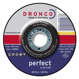 Δίσκος κοπής μετάλλου 115x3x22.23mm Perfect A 24 R-BF DRONCO