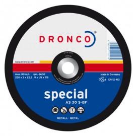 Δίσκος κοπής μετάλλου 230x3x22.23mm Special AS 30 S-BF DRONCO