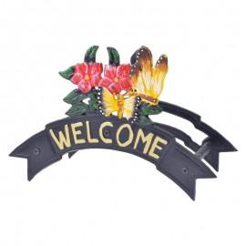 Βάση λάστιχου μεταλλική χυτή λουλούδια-πεταλούδες