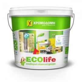 ECO LIFE Λευκό 0,75lt Πλαστικό οικολογικό χρώμα Χρωμοδομή