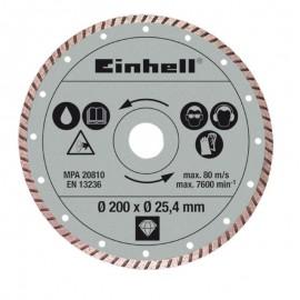 Διαμαντόδισκος turbo 200 x 25,4 mm Einhell 4301175
