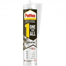 One For All Crystal Pattex Σφραγιστικό Συγκολλητικό με μεγάλη ελαστικότητα 290gr